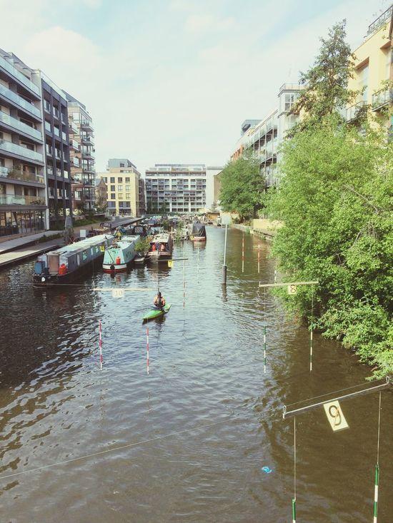 Canoe London canal Hackney