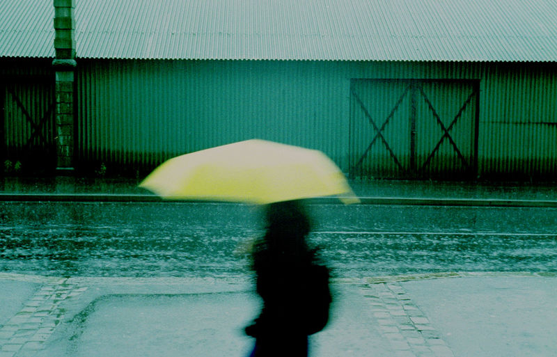 Colors Green Moodshot Outdoors Outdor People Watching Silhoutte Umbrella Yellow
