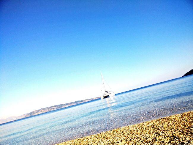 Lonely Boat with Hangover on Stony Beach in the Mediterranean , CORFU ISLAND, Oneplusone OnePlusOne📱 EyeEm, Summer Views