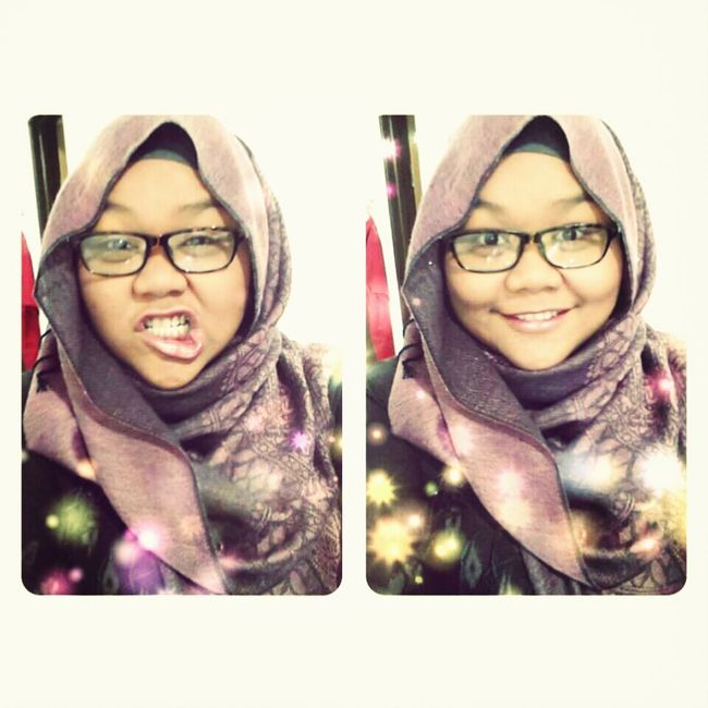 Hi! Crazy Face at my brother's wedding feast ;) me with hijab... Hijab Style Love