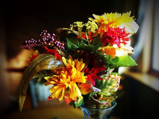 Fall Colors In A Vase