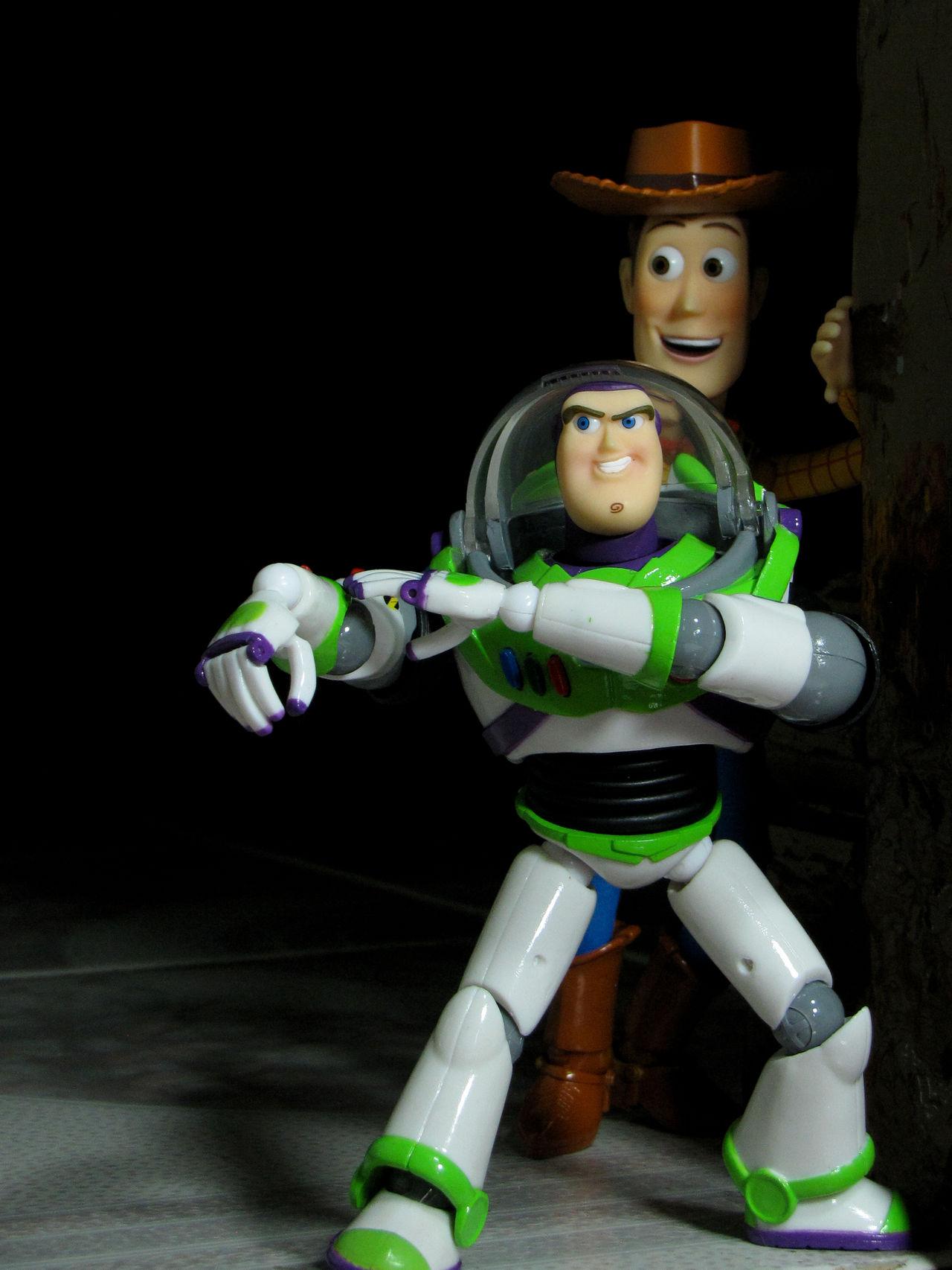 Animation Black Background Buzzlightyear MOVIE Revoltech Toy Toyphotography Toystory Woody