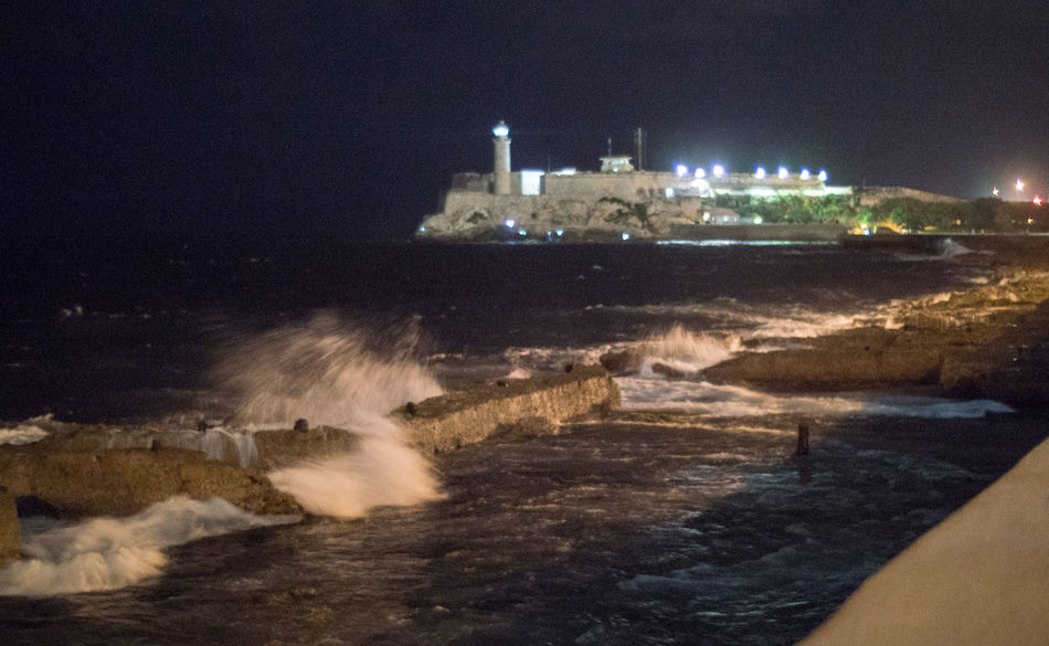 Even in the night the Ocean does it's duty and produces the waves the tourists like Cuba Cuba Collection Day Havana Long Exposure Malecon Motion Nature Night No People Outdoors Power In Nature Sea Splashing Waves Travelling Photography