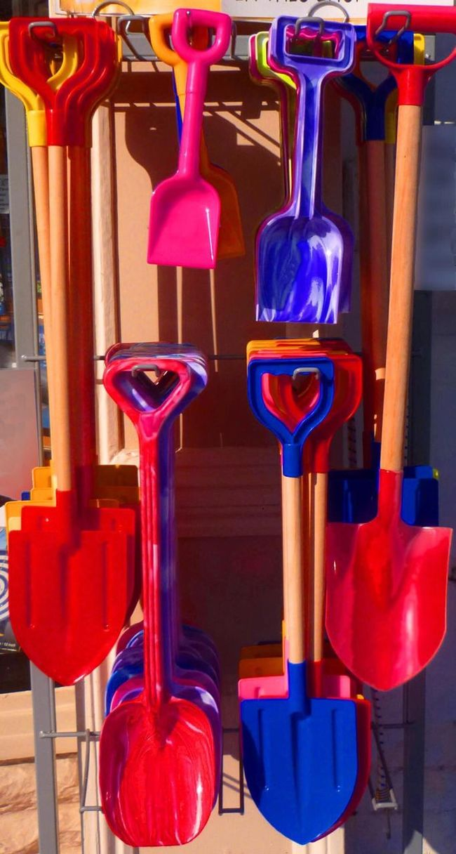 The Color Of Business Multi Colored In A Row Vibrant Color Red Colorful Seaside_collection Bucketandspade Kiddiestuffs Holiday Memories Beach Holiday Spades Shop Window