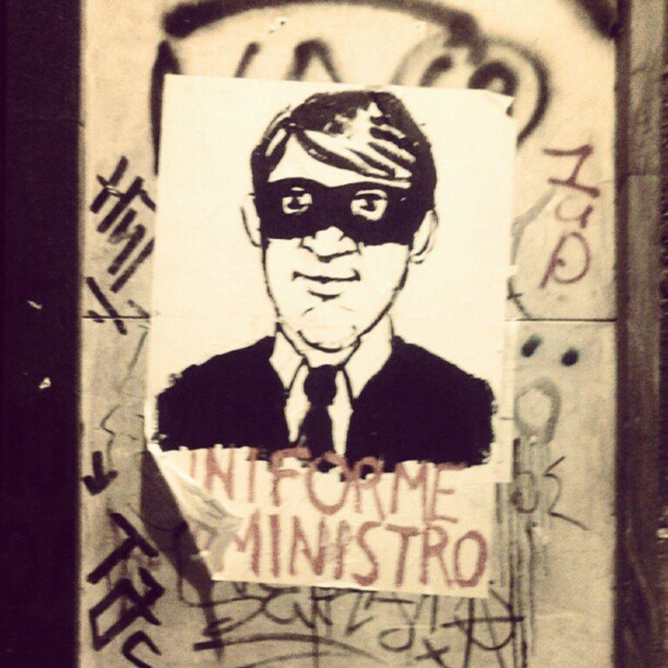 uniforme de ministro Ministro Ministros Bandido Streetart Poster
