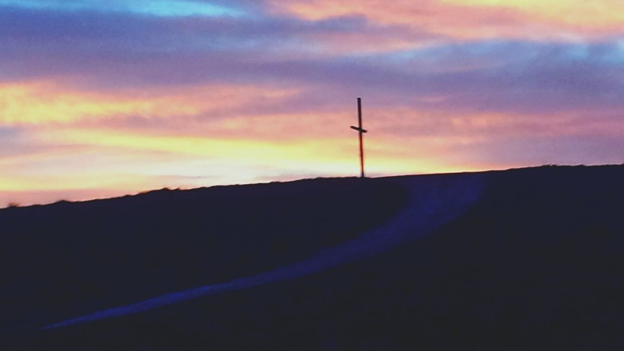 The Photojournalist - 2016 EyeEm Awards Religion Cross On The Hill Belief And Faith Purple Sunset Random Capture Traditions Religious Spot Small Town Landscape Amazing Colorscolors of the sky Symbolism