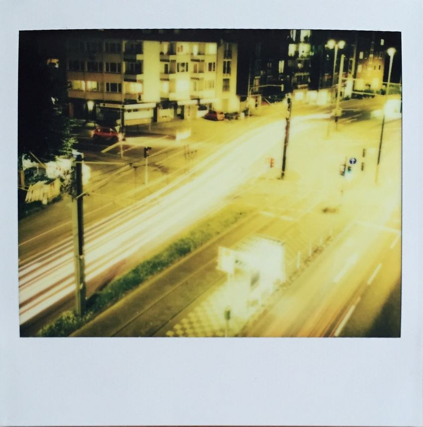 Düsseldorf by night Polaroid Image Pro Impossible Project Filmphotography Instant Photography Long Exposure