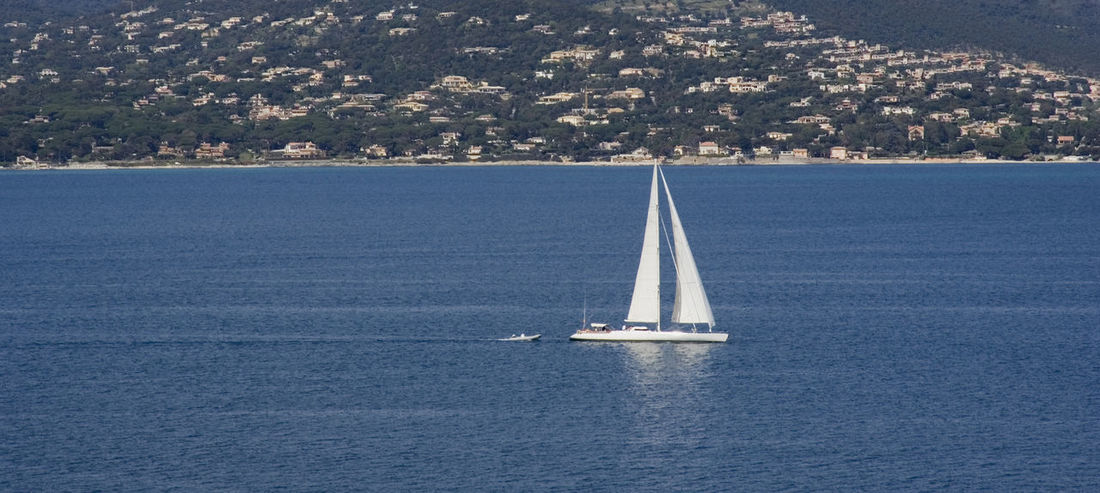 gulf of saint-tropez - french riviera, panorama view Boat Cityscape Coast Coastline Côte D'Azur France French Riviera Gulf Of Saint-tropez Landscape Mediterranean Sea Nautical Vessel No People Provence Sailboat Sailing Sailing Boat Sailing Ship Saint-Tropez Sea Seascape TOWNSCAPE Vacations Water Yacht Yachting