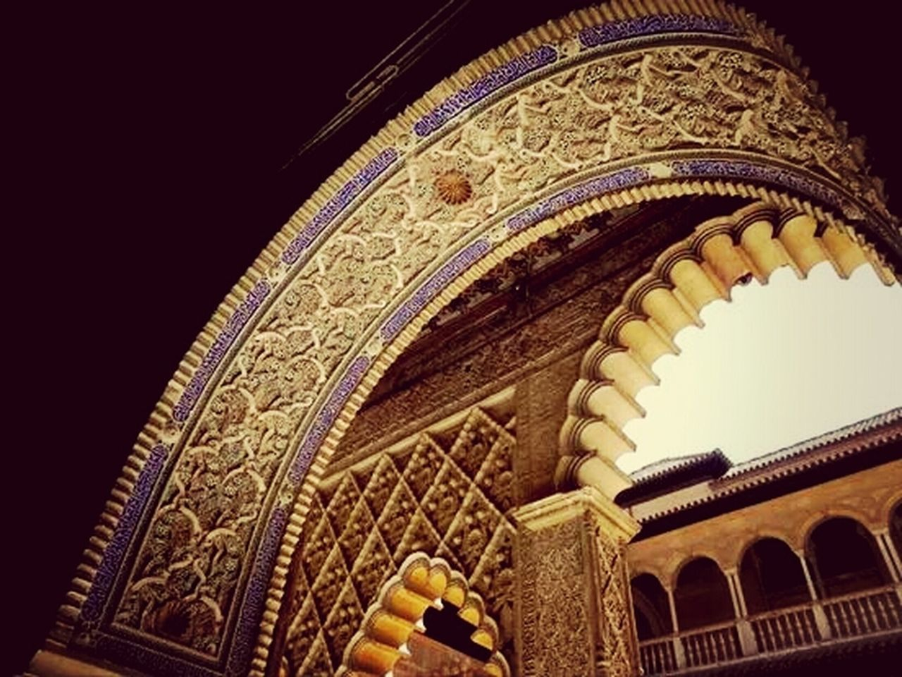 low angle view, architecture, ornate, arch, built structure, no people, indoors, day, close-up