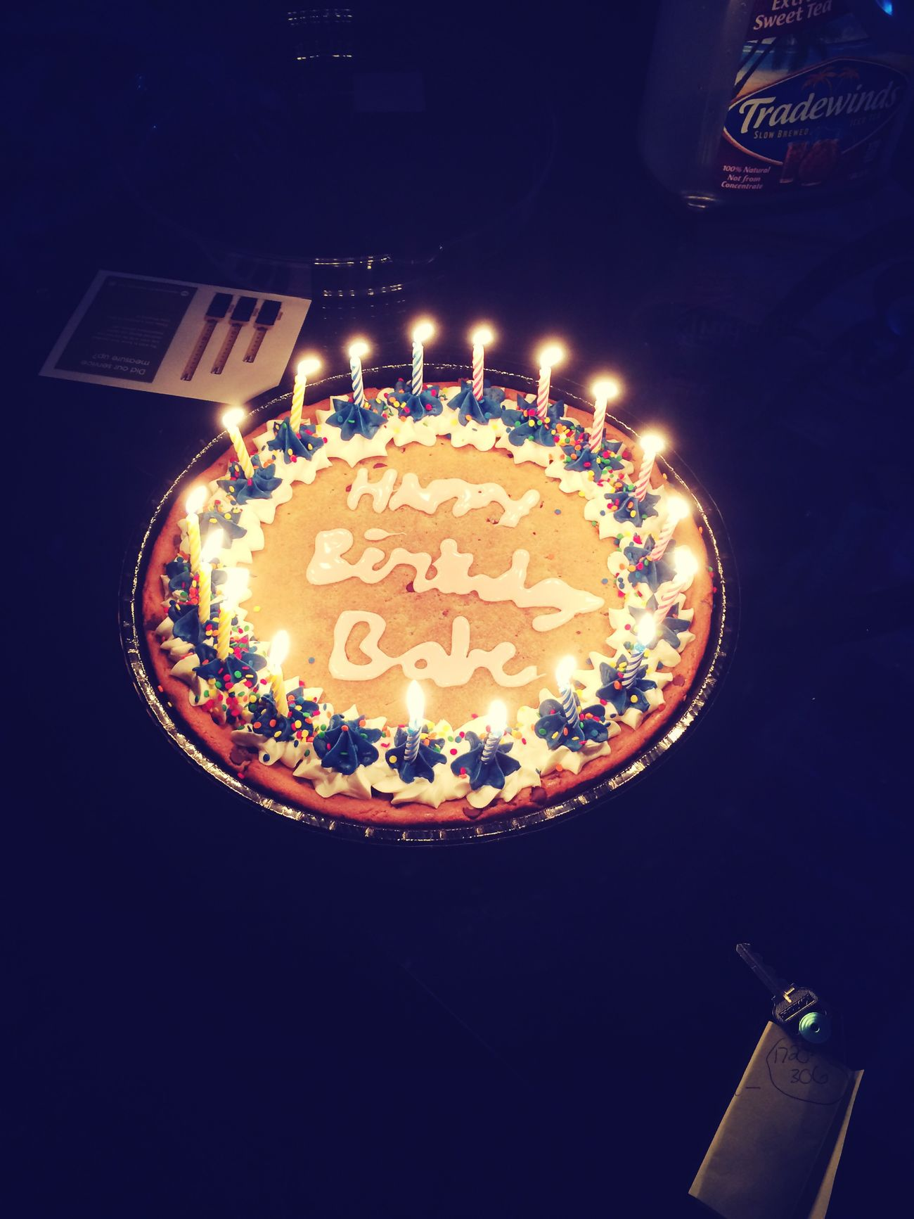 Happy 18th too me (: Birthday Cookiecake Candels Yummy