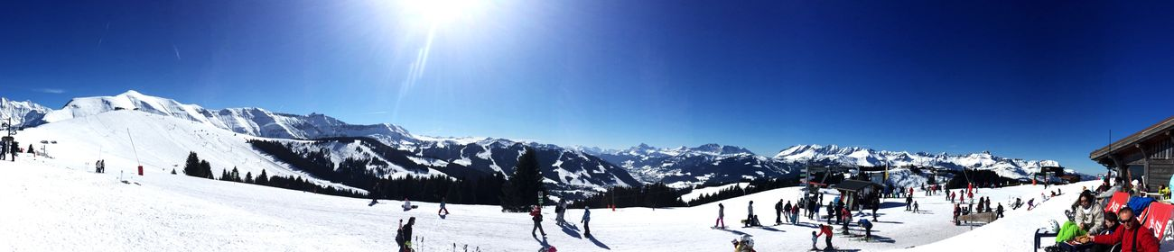 Day 6 ... Best weather... Skiing Saint Gervais Panorama Enjoying Life