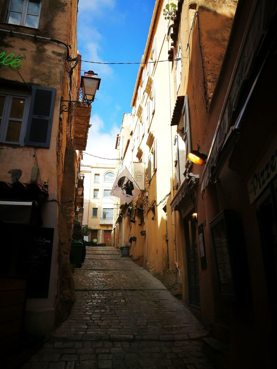 Street Architecture Built Structure Building Exterior Alley Residential Building The Way Forward No People City Day Outdoors Picture Of The Day Filter Fun Corse City Architecture Travel Destinations Pictures