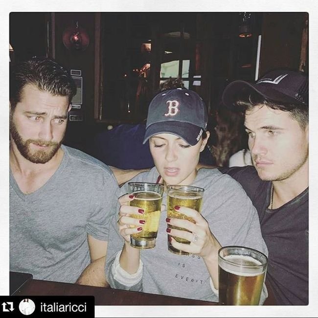 Repost @italiaricci ・・・ How friends help friends get through cancellation announcements. 🍻 Booo so sad Chasinglife AbcFamily is cancelled 😢😔😞 it's such a good show n sucha inspirational tv 📺 show. Looking forward to seeing you in other tv shows & movies!! Hopefully in Arrow with Stephenamell Soontobecousininlaw and/or Theflash with both RobbieAmell Soontobehusband Fiance and Stephenamell