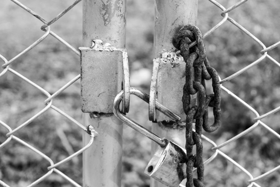 Barbed Wire Chainlink Fence Close-up Day Focus On Foreground Lock Love Lock Metal No People Outdoors Padlock Protection Rusty Safety Security