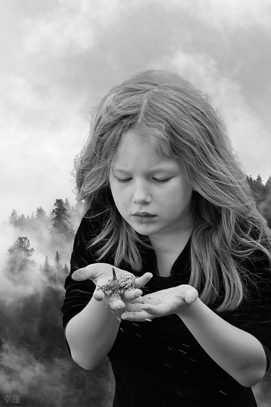 ashes to ashes, dust to dust ( final version ) Portrait Child Girl Close-up Melancholy Sadness Sorrow Mood Lucky's Mood Lucky's Monochrome Monochrome Monoart Black And White Shootermag EyeEm Gallery ArtWork Fine Art Photomanipulation Contrast Detail Shades Of Grey Tranquility Silence EyeEm Dust In The Wind