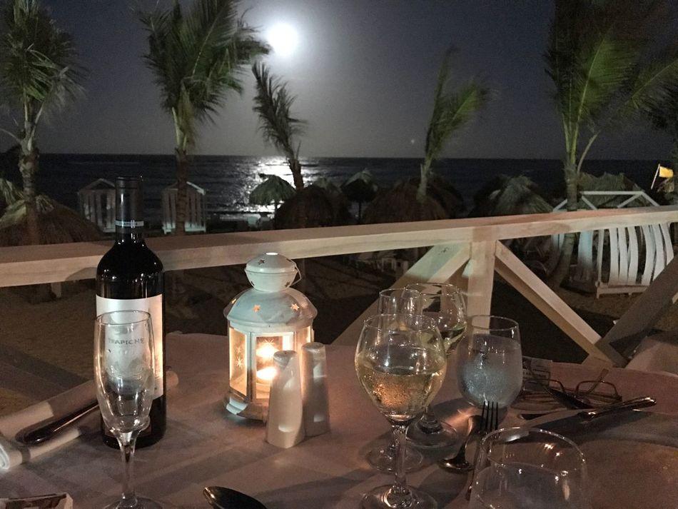 EyeEmNewHere Romantic Illuminated Table Night Indoors  Food And Drink No People Wine romantic Romantic❤ Dinner