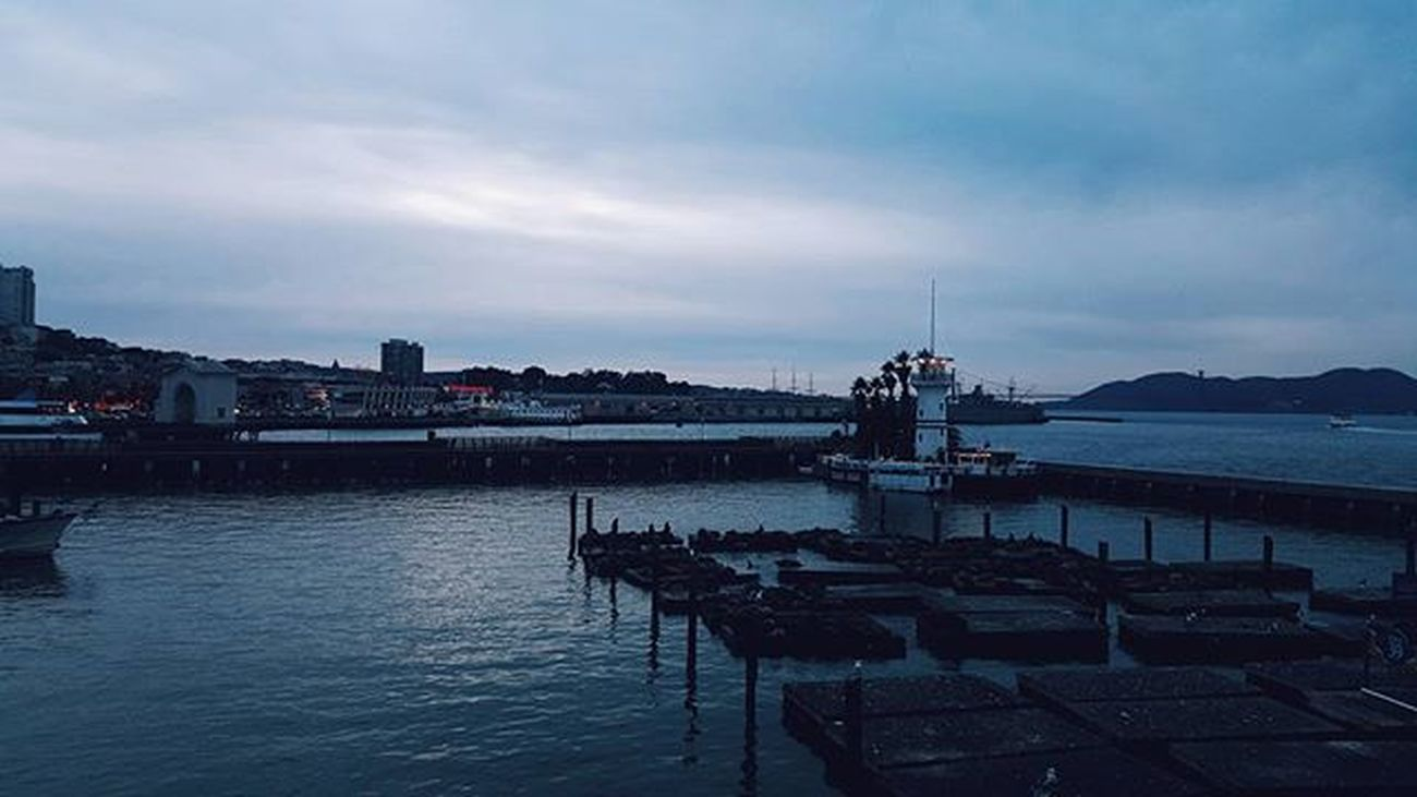 """""""As the light Dies"""" California Visit Travel Explore Sanfrancisco Pier39 Fishermanswharf Igerscalifornia Igers Instapic Instadaily Instagramers Samsung Galaxynote5 Visuals Thebay Artofvisuals Moodygrams Mood Cold Sweaterweather Mobilephotography Mobilemag Movilgrafias"""