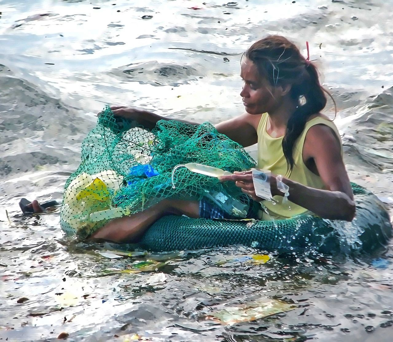 The Photojournalist - 2017 EyeEm Awards One Woman Only Cleaning The Sea