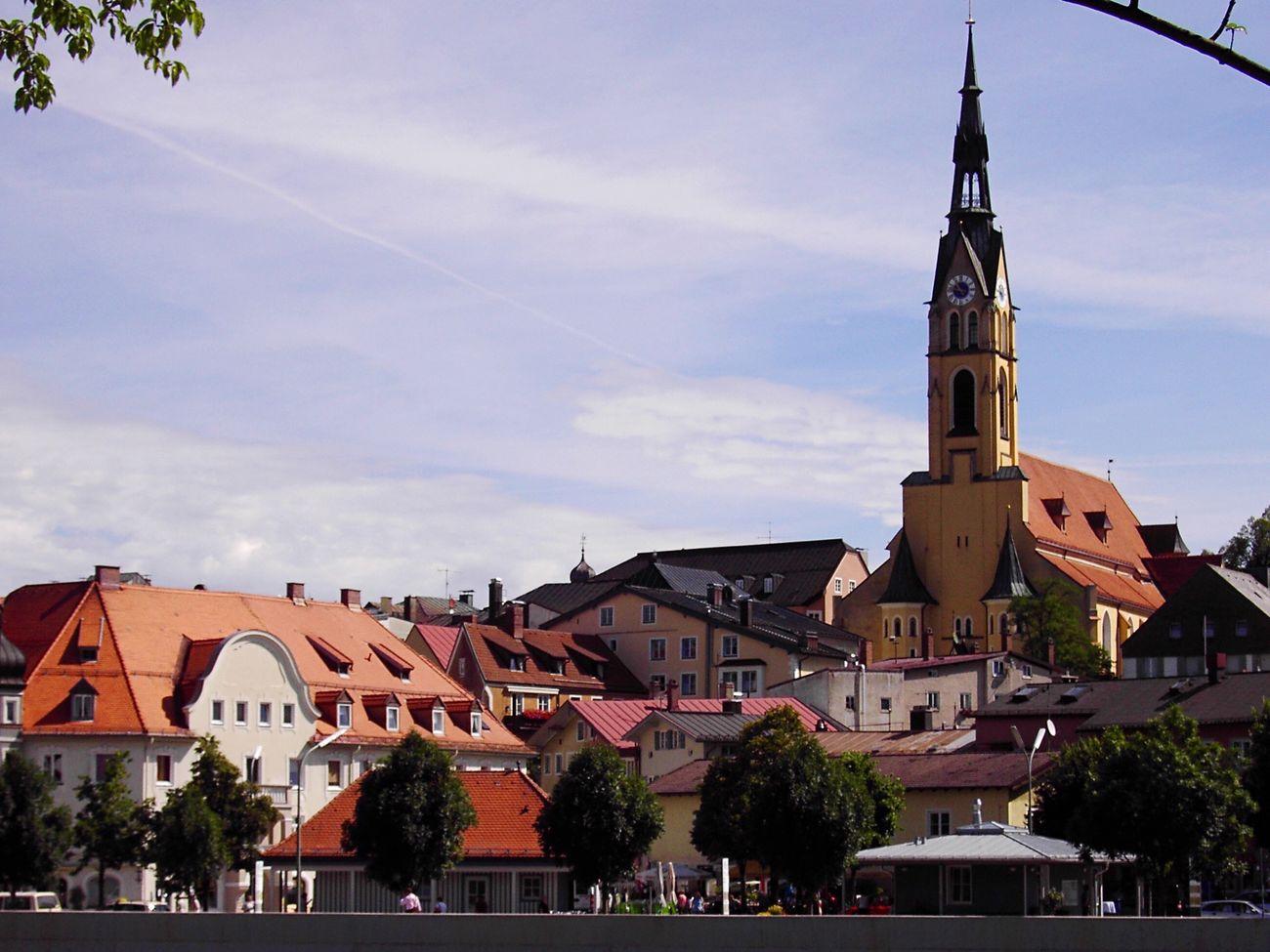 Germany Bavaria Town Church Catholic Bad Tölz