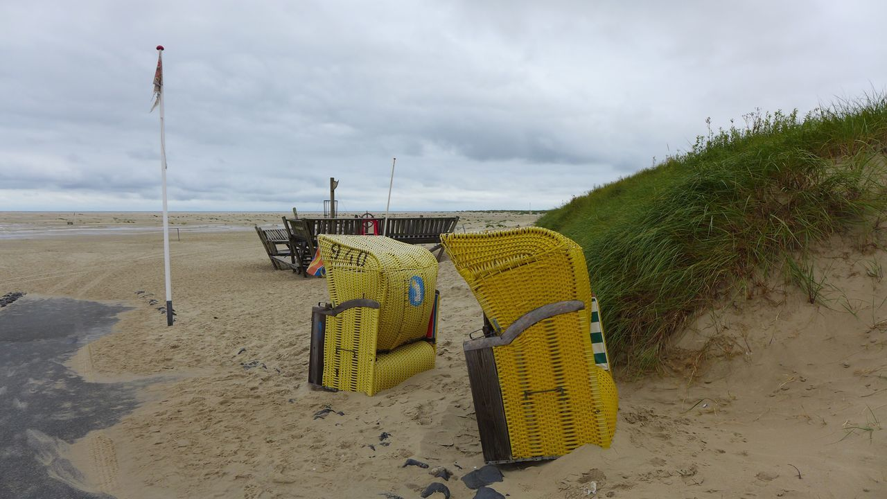 Colour Of Life Summer 2016 What's On The Roll Clouds And Sky Amrum Wittdün Amrum Cold Windy Landscape Nature Showcase August Home Is Where The Art Is Beach Beachchairs Beachchair Colour Of Live Dunes Amrum Kniepsand Eyeemphoto Alone Banner Cold Temperature Cold Days