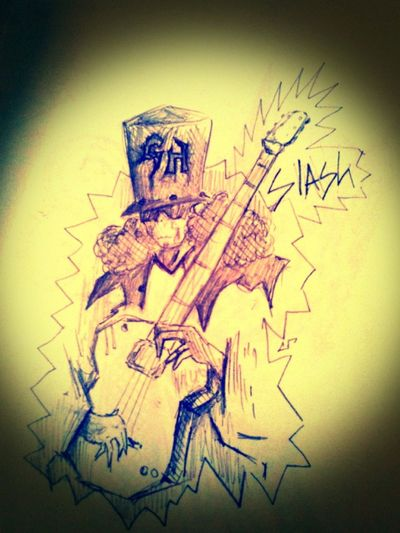 This is an old draw...three years old.... My Draw Slash  Guitarhero That's Rock!