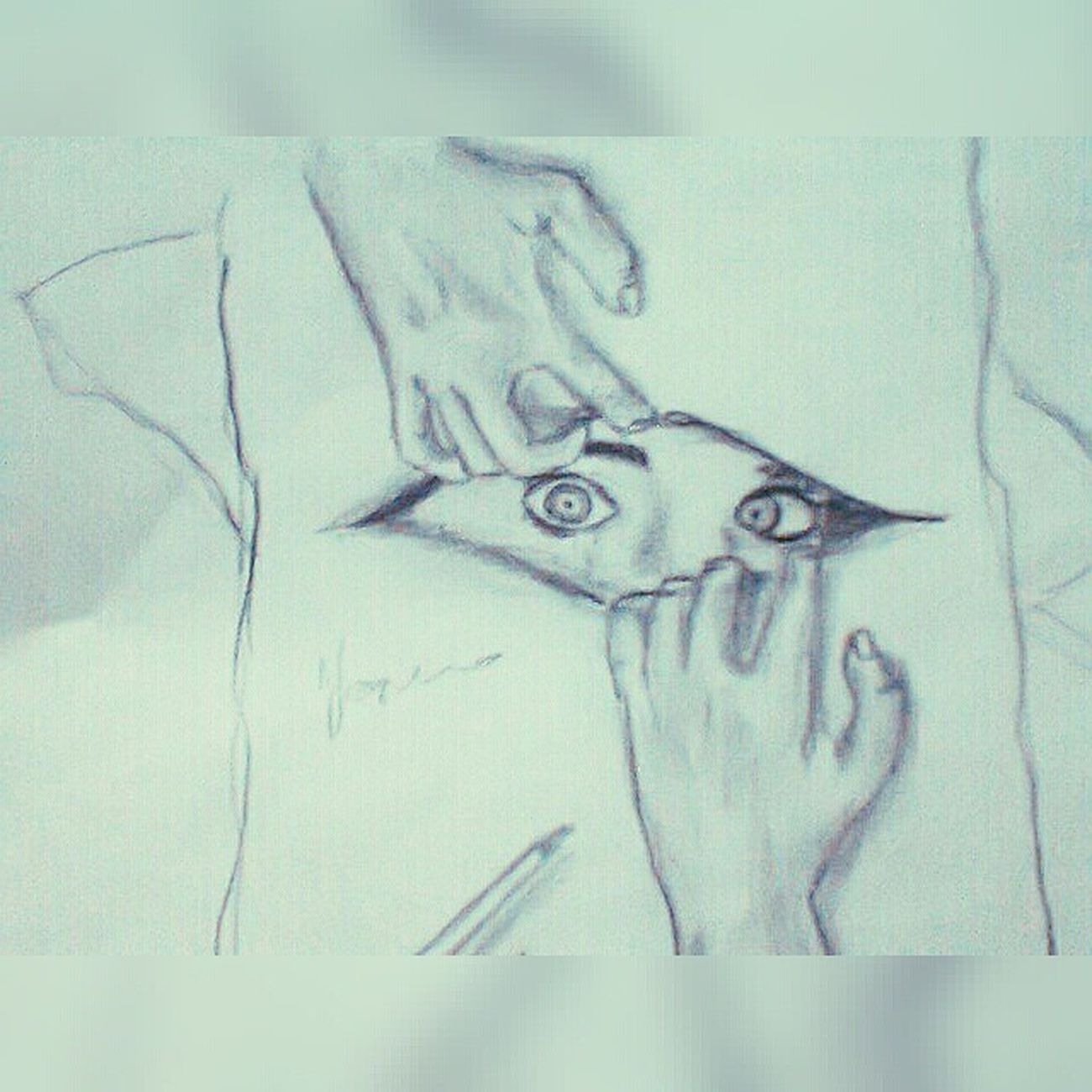 Squaredroid Skets Sketsa Drawing eye pencil art