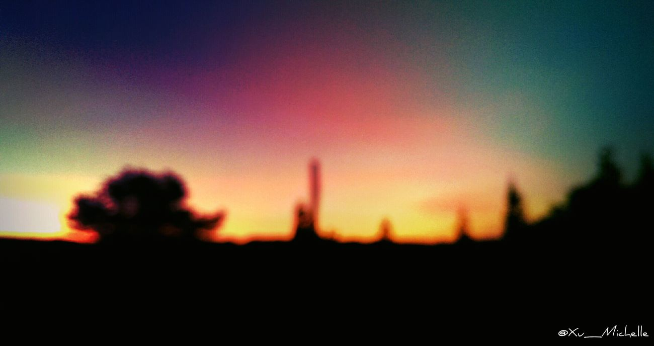 {Sometimes life gets a little blurry} Sky_ Collection Clouds And Sky Landscape Skyporn Colors Sunset_collection Sunset Sunset Silhouettes Relaxing Blur