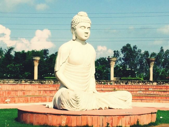 Chandigarh Peace Buddha Statue The Garden Of Silance India Urban Exploration Love My City Stone Art