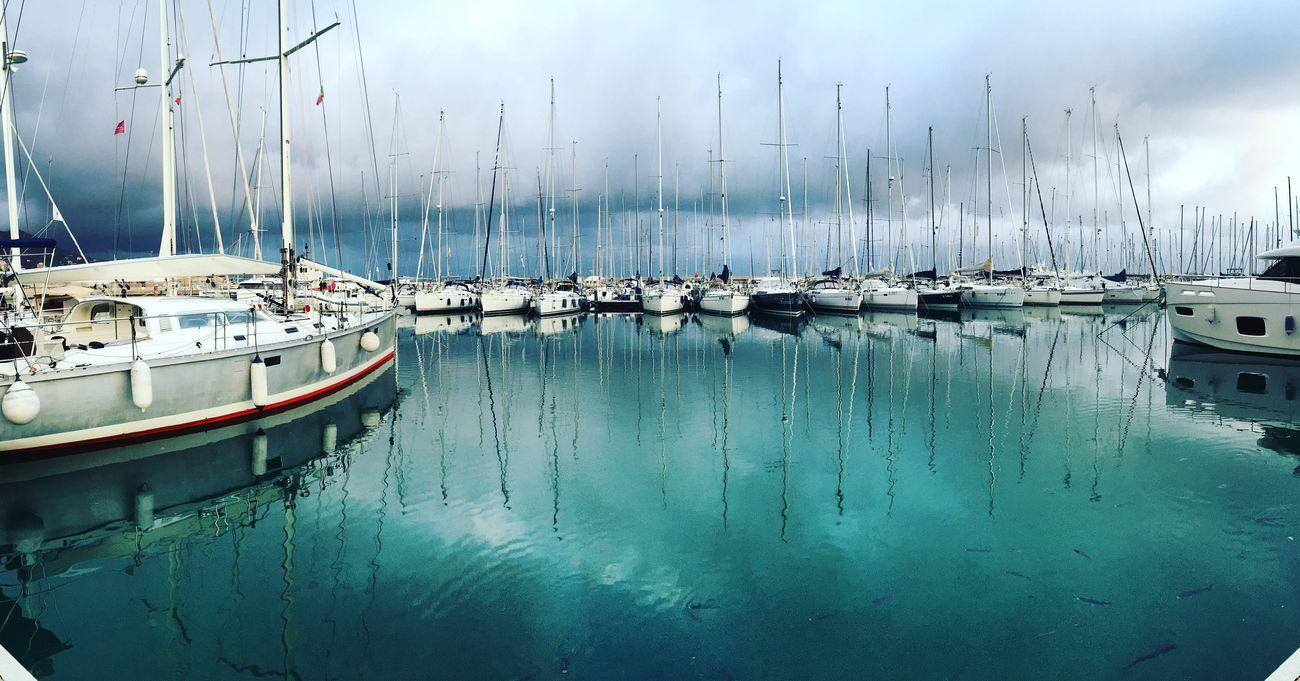 Mare Sea Boats Blue Green Verde Clouds Nuvole Cloudy Nuvoloso Porto Varazze Liguria Barche