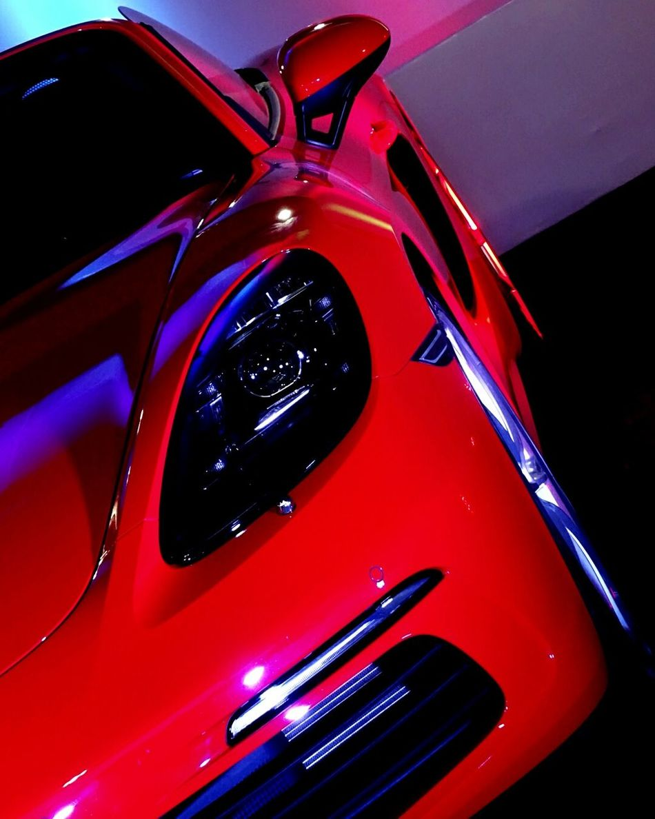 Car Red Transportation Luxury Land Vehicle Modern No People Collector's Car Indoors  Day Cockpit Target Manhood Lifestyles Symbol Light And Shadow Steel Technology Fashion Porsche Wheels Speed Racing Car Status Fast
