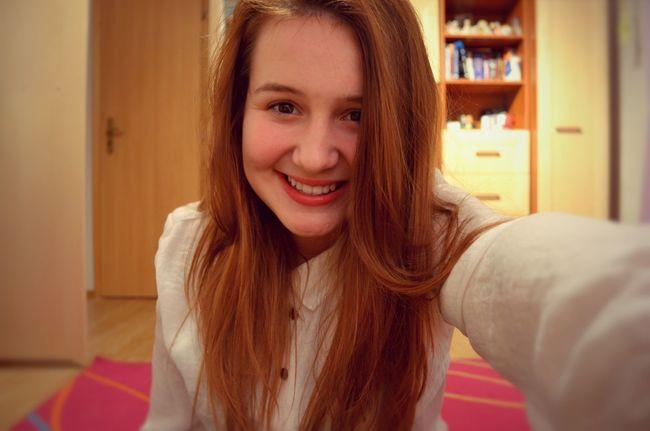 That's Me Girl Smile Taking Photos