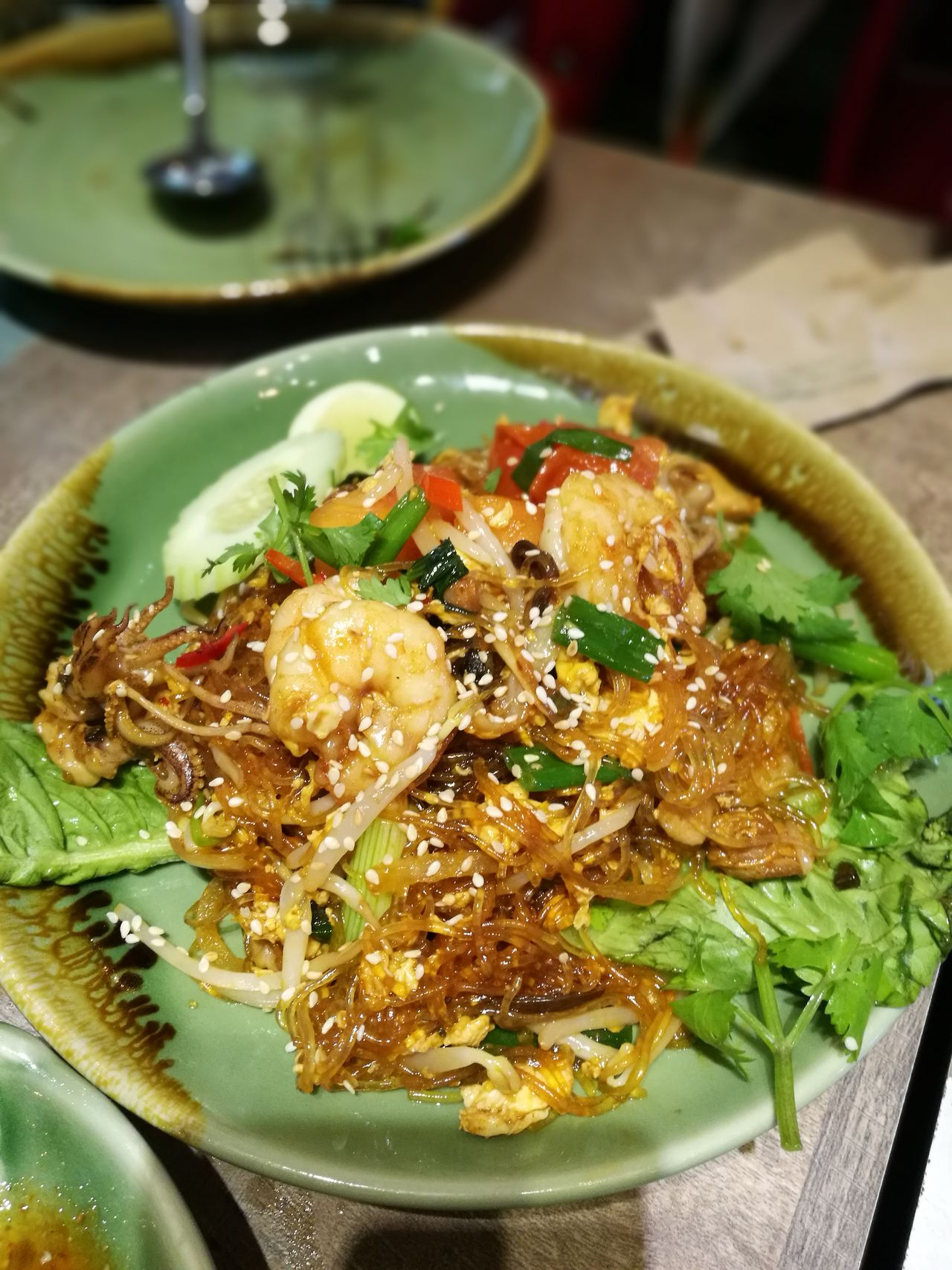 Seafood glass noodles Food Freshness Ready-to-eat Healthy Eating Food And Drink Indoors  Plate Close-up No People Homemade Day Glassnoodles Seafood Lovers SEAFOOD🐡 Thai Food