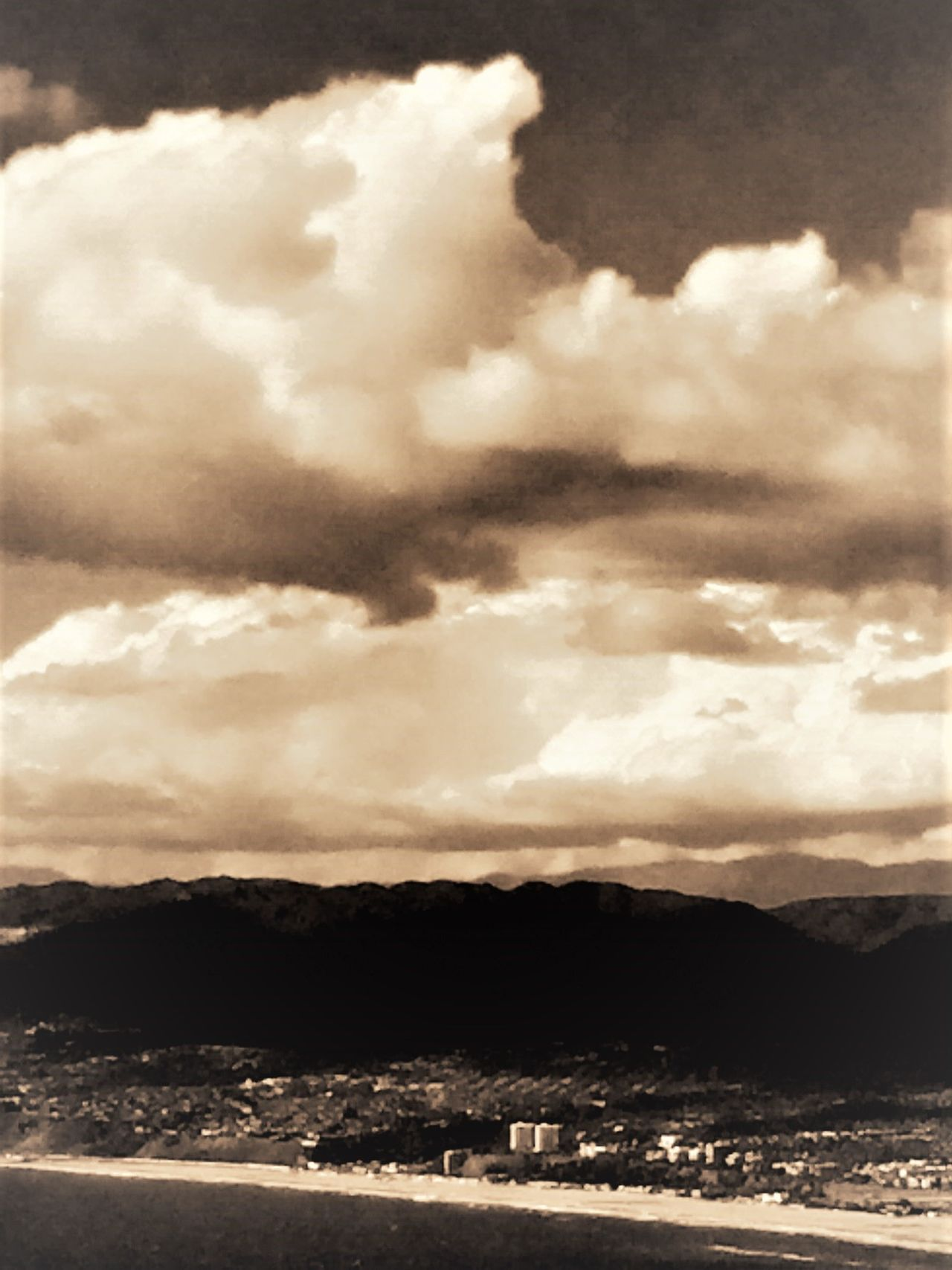 Black And White Blackandwhite California Coast Cloudscape Darkness And Light Dubai From An Airplane Window High Angle View Outdoors