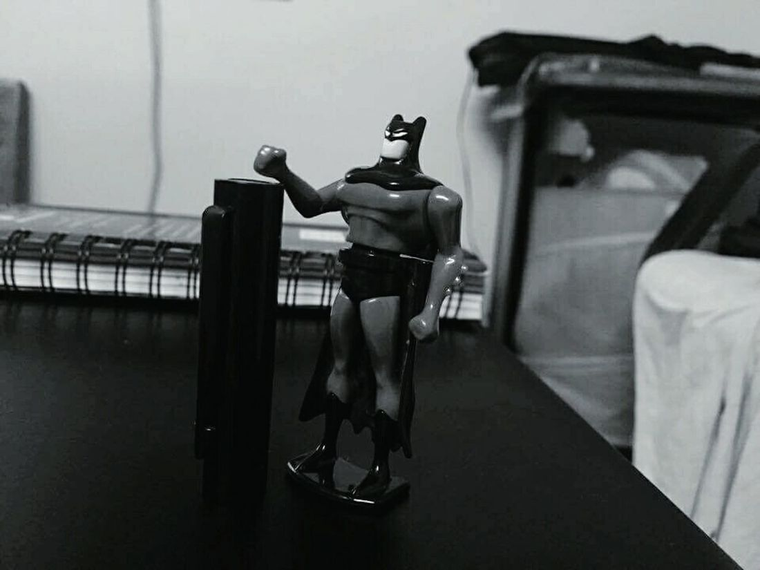 Batman The Dark Knight Black & White 😂 Parker Pen IPhoneography Photography Themes Full Length Memories Hobbies Focus On Foreground Boring Evening 😚
