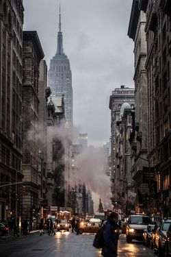 Empire State Building N.Y New York City Building Night Fall People Cars Amazing Photography The Best Of New York