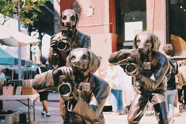DUMBO New York New York City Streetphotography Outdoors Flea Markets Dogs Statue Art