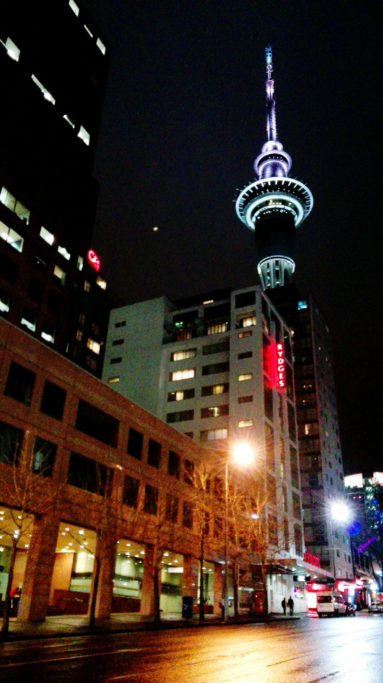 Standing Proud n Lookin' Pretty Auckland City Sky Tower Auckland Night Lights City Life CBD Rydges Hotel Federal Street Urban Lifestyle