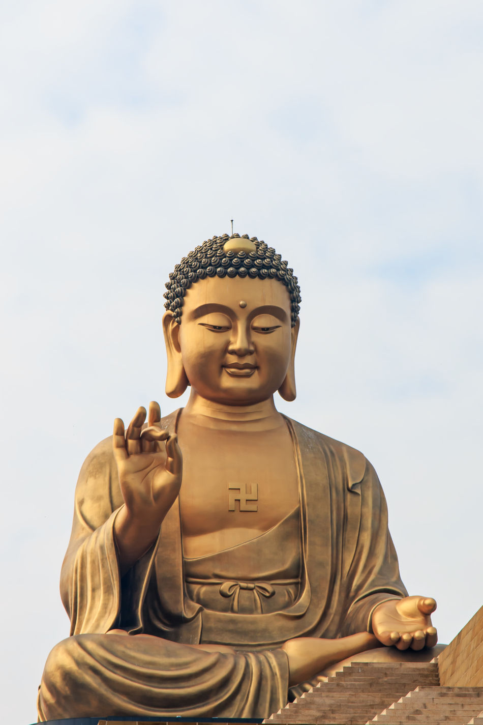 Giant Buddha Art ASIA Asian  Asian Culture Buddha Buddha Buddha Statue Cloud - Sky Creativity Fo Guang Shan Kaohsiung Low Angle View Outdoors Religion Sculpture Sky Spirituality Statue Stone Material Summer Taiwan Temple - Building Tourism Tradition Travel Destinations