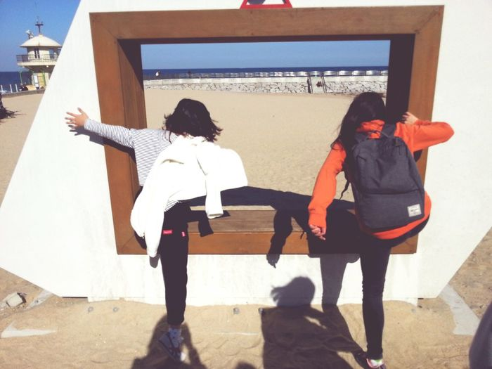 Go Into Frame Beach Friend!❤