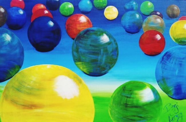 Art, Drawing, Creativity Art Gallery ArtWork Balls! Colorful Painting Painting Art Art And Craft Artgallery Kunstwerk Kunst It's My Own Baden-Württemberg
