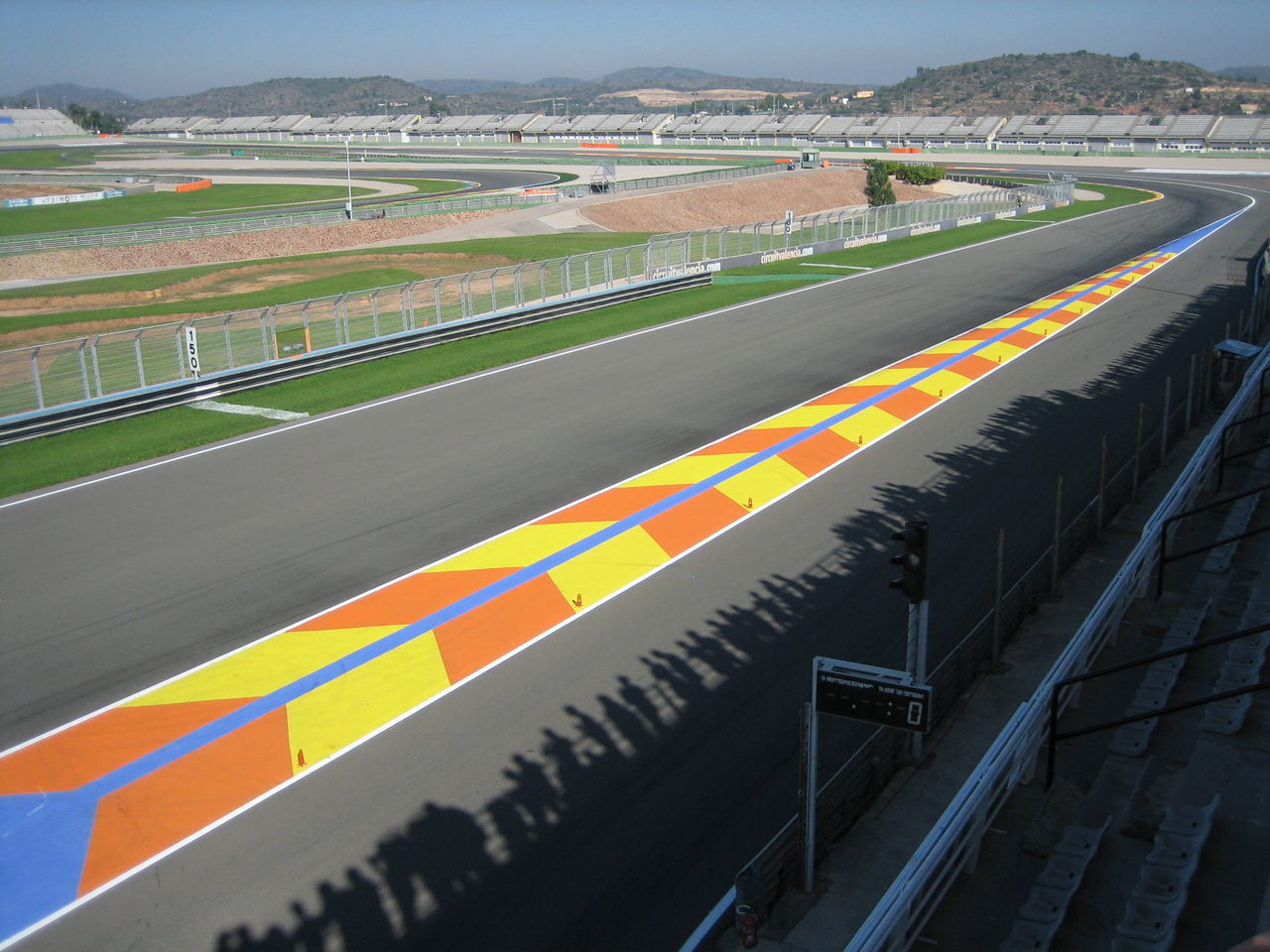 Circuit in Cheste (Valencia, Spain) is really beautiful. Bright Colours Bright Light Circuit Ricardo Tormo MotoGP EventPhotography Light And Shadow Moto Shadows Sunny Day The Day After Perspective Lookingdown Spectators Need For Speed Motogp TakeoverContrast