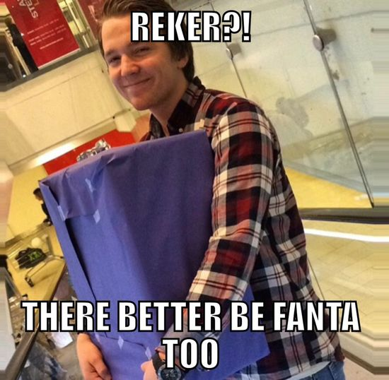 GRATULERE MED DAGEN BUD!!!!!!!!! Fanta Reker