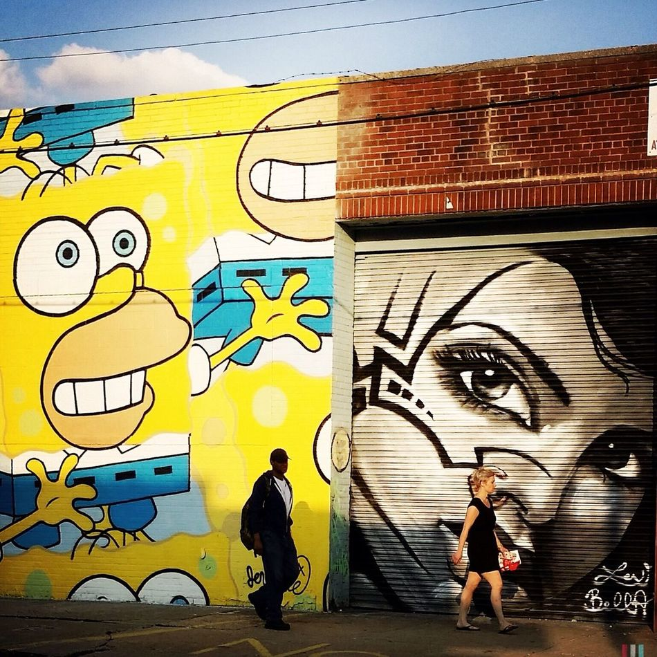 The Street Photographer - 2015 EyeEm Awards Street Protography EyeEm Best Shots Hipstamatic Light And Shadow Street Art Brooklyn Streetphotography Newyorkcity Mural