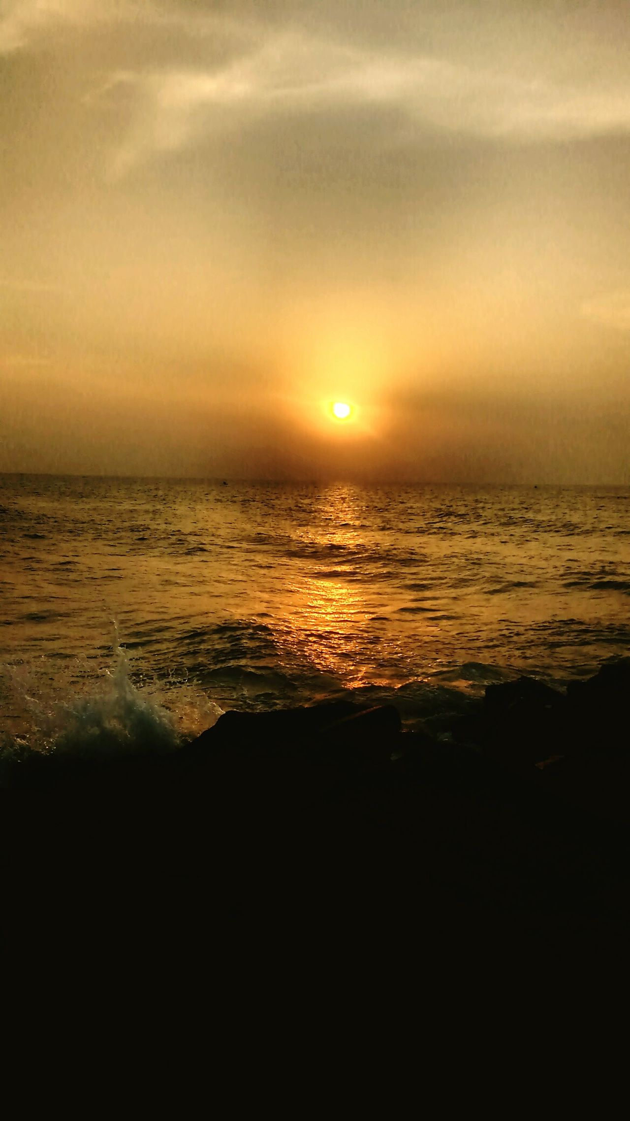 New Dawn Beach Sea Sun Beauty In Nature Tranquility Horizon Over Water Vacations Sunrise - Dawn Pondycherry Pondybeaches