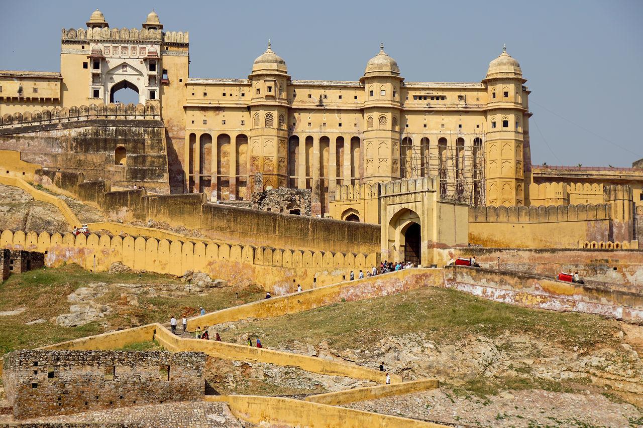 Architecture Building Exterior Built Structure Famous Place Fort History India Jaipur Nahargarh Fort Tourism Tourist Attraction  Travel Destinations Unrecognizable Person