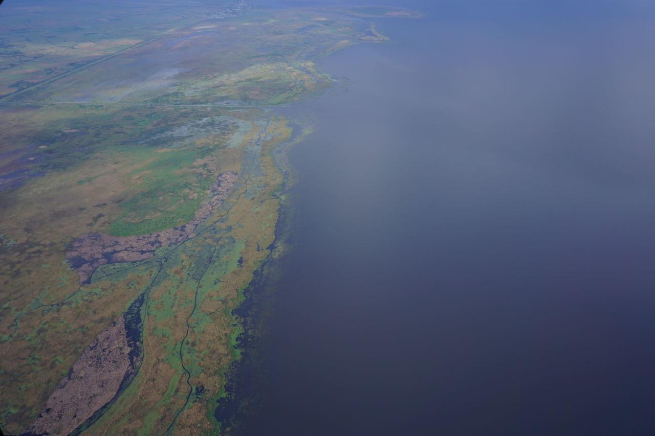South western shore of Lake Okeechobee Aerial Shot