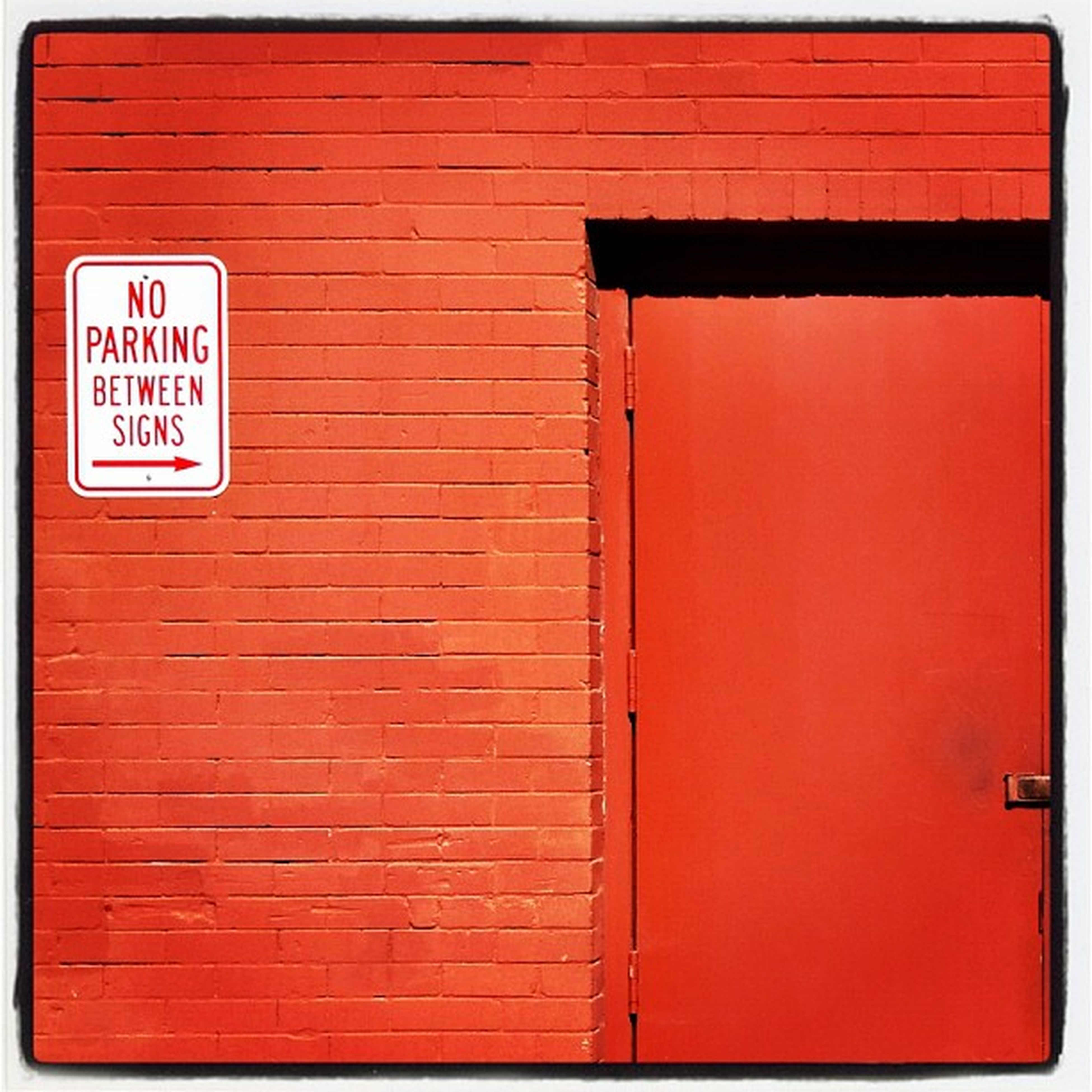 red, architecture, built structure, building exterior, communication, text, door, wall - building feature, closed, brick wall, western script, guidance, wall, transfer print, safety, sign, information sign, outdoors, auto post production filter, day