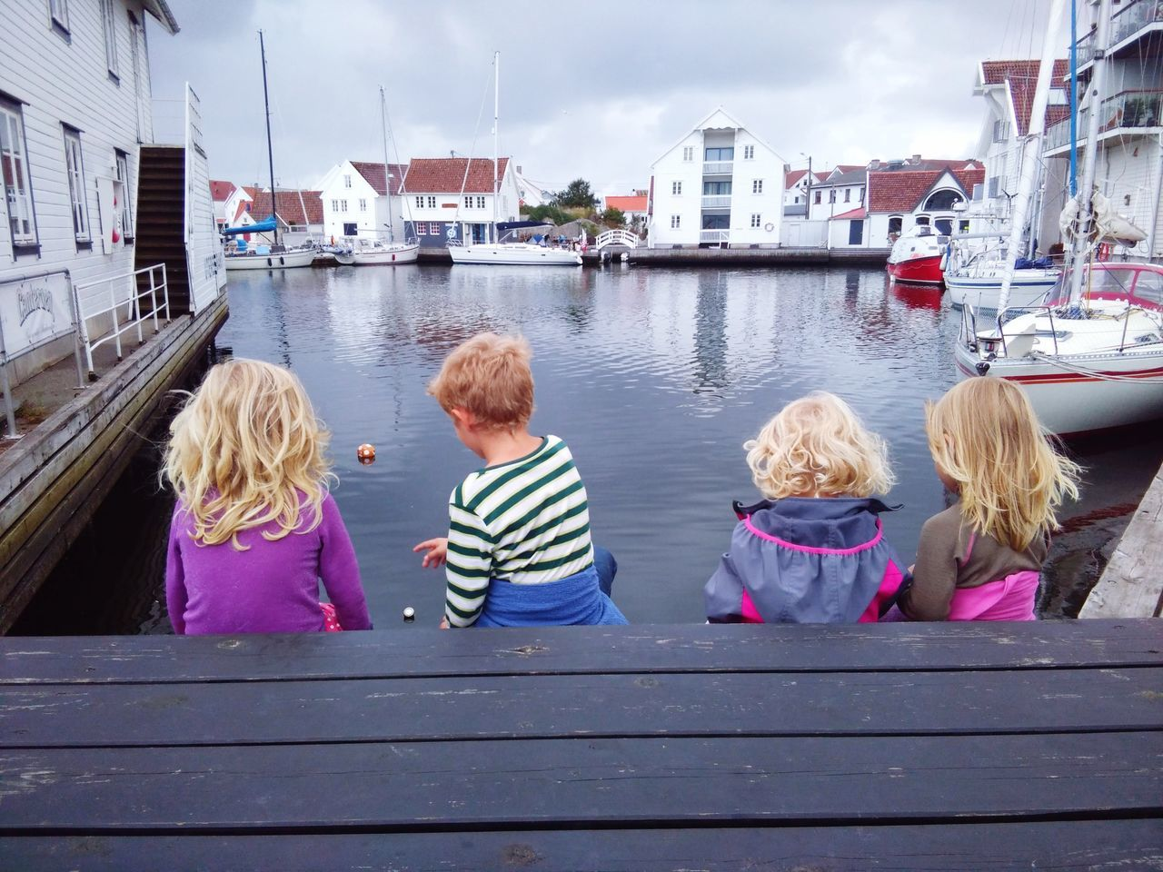 Child Children Only Outdoors Water Sky Norway First Eyeem Photo Friendship Togetherness Blond Hair The Great Outdoors - 2017 EyeEm Awards