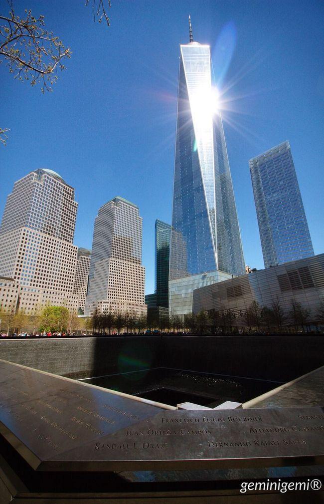 Oneworldtradecenter America Newyork Newyorkcity Mydream Dreamcametrue 2016 April Sunshine Shine Building Memorial 9/11 🇺🇸🏙