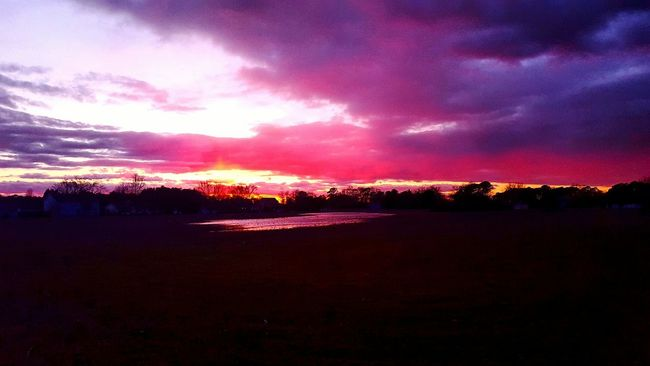 Such a beautiful sunset tonight I had to find somewhere to pull off and get out and take a picture of it